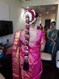 Southindian wedding hairstylist mumbai
